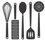 5 out of 5 kitchen utensils