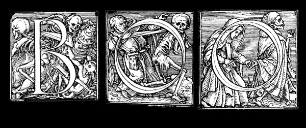Alphabet of Death by Hans Holbein the Younger between 1523 and 1525